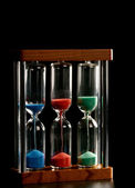 Multiple hourglass — Stock Photo