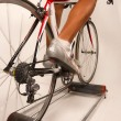 Stock Photo: Pedaling sports bycicle