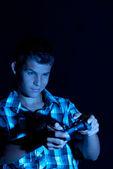 Teen gamer — Stock Photo