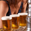Draft pints — Stock Photo