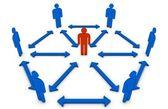 Team Leader concept — Stock Photo