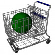 World Shopping Cart - Stock Photo