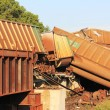 Train derailment near Silverlake, Kansas - Stock Photo