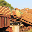 Royalty-Free Stock Photo: Train derailment near Silverlake, Kansas