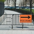 Stock Photo: Pedestrian Crossing Sign