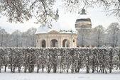 Winters tafereel van de Hofgarten — Stockfoto