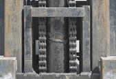 Makine ile pas ve zincir — Stockfoto