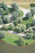 Aerial View Of Recreational Park — Stock Photo
