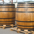 Traditional Beer Kegs - Stockfoto