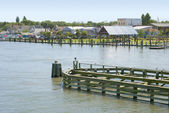 Waterfront in Chincoteague, Virginia — Stock Photo