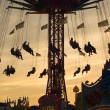 Old Fashion Carousel  at Sunset — Stock Photo