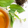 Green tea with jasmine — Foto Stock