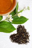 любовь зеленый чай — Стоковое фото