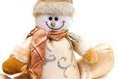 Snowman toy detail — Stock Photo