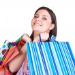Girl with many shopping bags — Stock Photo