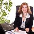 Royalty-Free Stock Photo: Happy businesswoman in office