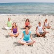Stock Photo: Meditation group