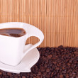 White cup of coffee — Stock Photo