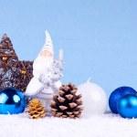 Natale sfondo blu — Foto Stock
