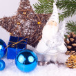 Stock Photo: Chrsitmas decoration - blue