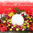 Red christmas background - card — Foto de Stock