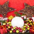 Royalty-Free Stock Photo: Red christmas decoration