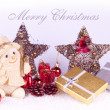 Cute xmas card, background — Foto de Stock