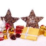 Ceramic santa with xmas ornaments — Stock Photo #2834952