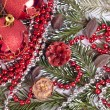 Royalty-Free Stock Photo: Red xmas background