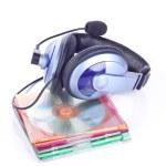 Headphone and discs — Stock Photo #2837812