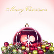 Christmas background - card — Stock Photo