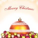sfondo di Natale rosso - scheda — Foto Stock