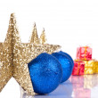 Stock Photo: Xmas stars with reflection