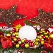 Red xmas decoration — Stock Photo