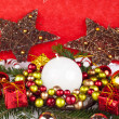 rode xmas decoratie — Stockfoto