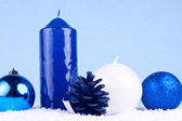 Xmas decoration - blue — Stock Photo