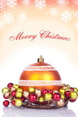 Red christmas background - card — Stock Photo