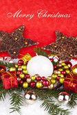 Red xmas decoration — Stock Photo