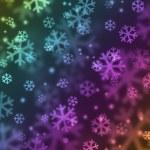copo de nieve en color del arco iris — Foto de Stock   #2843145