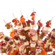 Delicious food on sticks — Stock Photo