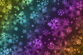 Snowflake in rainbow color — Stock Photo