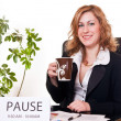 Stock Photo: Businesswoman enjoying her pause