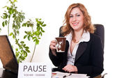 Businesswoman enjoying her pause — Stock Photo