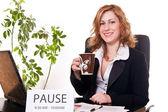 Businesswoman enjoying her pause — Stock Photo