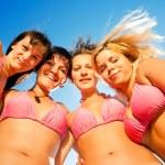 Smiilng bikini girls — Stock Photo