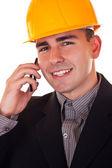 Ingeniero con teléfono — Foto de Stock
