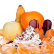 Fruits in bowl - Stock Photo