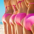 Side view of  girls  in  bikini - Stock Photo