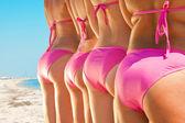 Side view of girls in bikini — Stock Photo