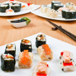 Three plates of sushi — Stock Photo #3274160